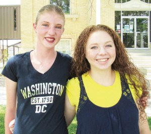 K'Leigh Halliday (left) of Gunnison Valley High School and Caitlin Tippetts of Manti High School, both of whom have participated in GEAR-UP, a program in local middle schools and high schools designed to prepare students for college, spent a week in Washington D.C. last summer attending a leadership summit.