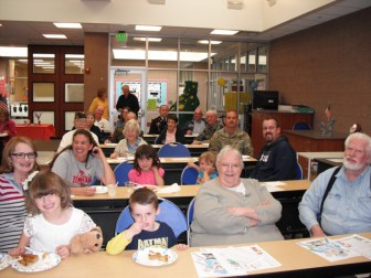 Veterans were invited to share meals with students as part of the Ephraim Elementary Veteran's Day events.