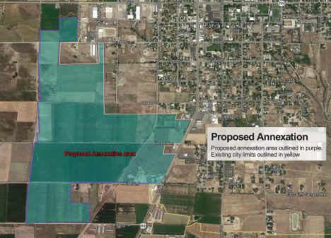 A public hearing is scheduled next week on a petition asking Ephraim City to annex more than 400 acres. The annexation would enlarge the city geographically by about 20 percent and affect the long-term direction of city growth.