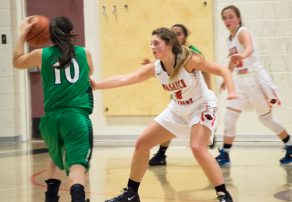Junior guard blew past the defense in this play against visiting Green River last Wednesday. The Lady Tigers dominated in the 78-40 victory. - Kyler Daybell / Messenger photo