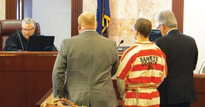 Logan McFarland pleads guilty to the aggravated murders of LeRoy and Dorothy Fullwood on Wedesday, Jan. 25 in 6th District Court in Matni. He was sentenced to two consecutive sentences of life in prison with no possibility of parole.