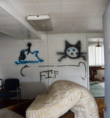 At the recent Ephraim City Council, the owner of the dilapidated motel on Ephraim Main Street gave the council his reasons for not being able to commit to a date for demolishing the motel. Among other reasons, property owner Branden Kirk, said he was waiting to find out if hazmat measures would be required for ceiling tiles containing asbestos.