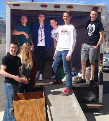 """The results are in on the North Sanpete High School's food drive """"The Hungry Games'. More than 7,720 pounds of good were collected compared to last year's 6,500 pounds."""