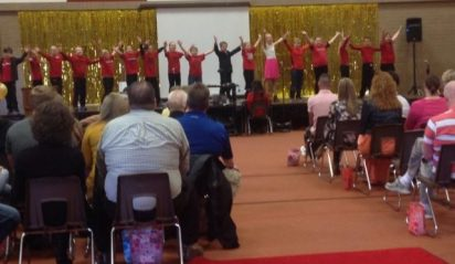 Manti Elementary students perform for guests during the school's recent Leadership Day.