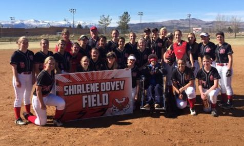 North Sanpete High School dedicated their newly-remodeled softball field and named it after long-time teacher and coach Shirlene Dovey.