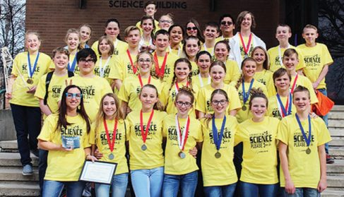 Ephraim Middle School was the only Sanpete middle school to compete in the Snow Science Olympiad. The school brought home 46 medals and placed second out of nine teams in their division.