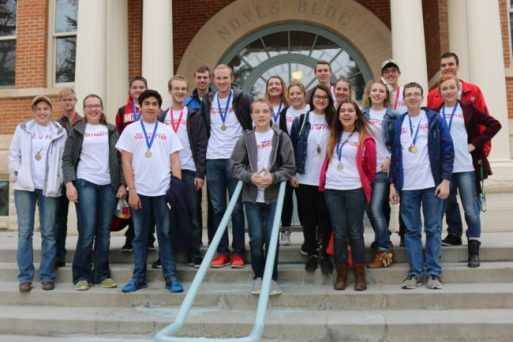 The Manti High School Snow Science Olympiad team medaled 12 times.
