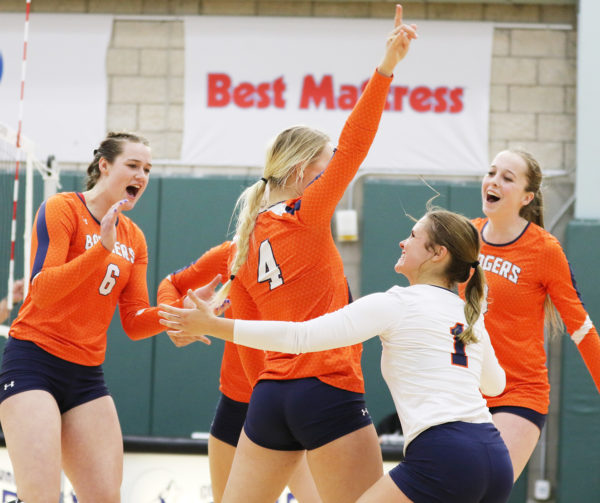 Lady Badger volleyball team first in conference for first ...