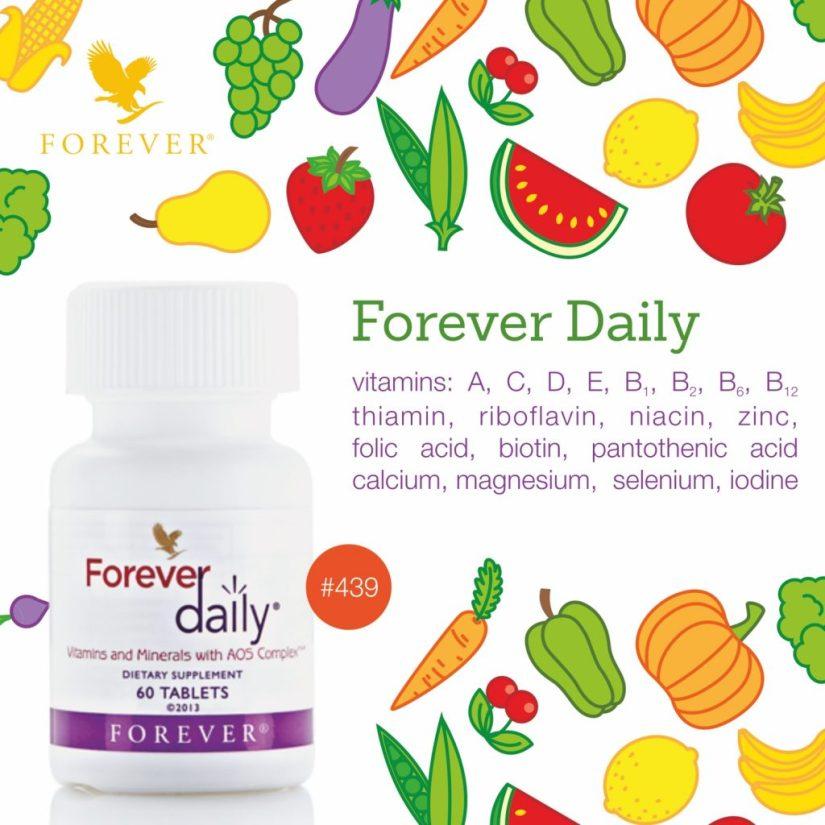 Thành phần Forever Daily 349 Flp | BổSung Rau, Củ, Quả, Vitamin và Khoáng Chất Hàng Ngày