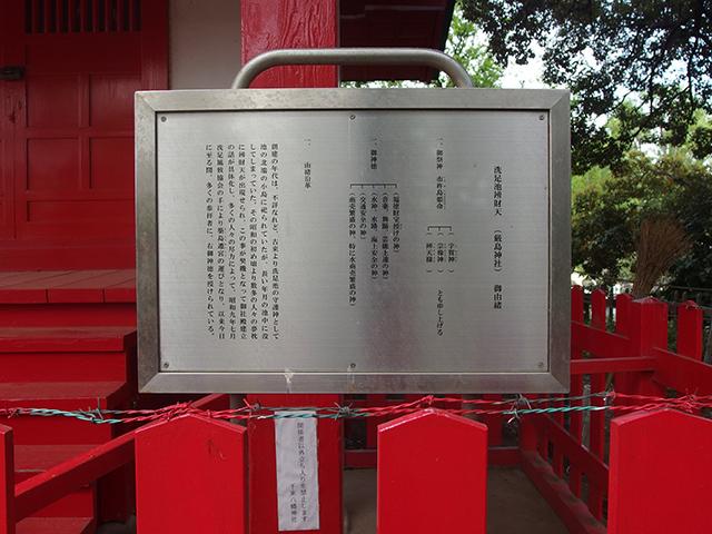 洗足池弁財天(厳島神社)写真