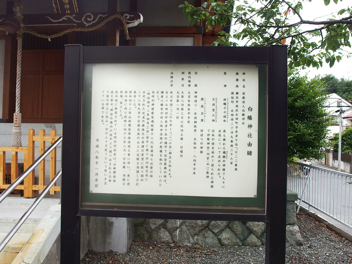 永田白幡神社(横浜市南区永田南)写真