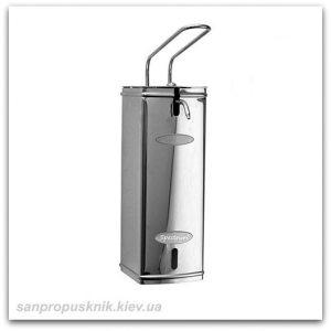 Локтевой дозатор для мыла из нержавейки