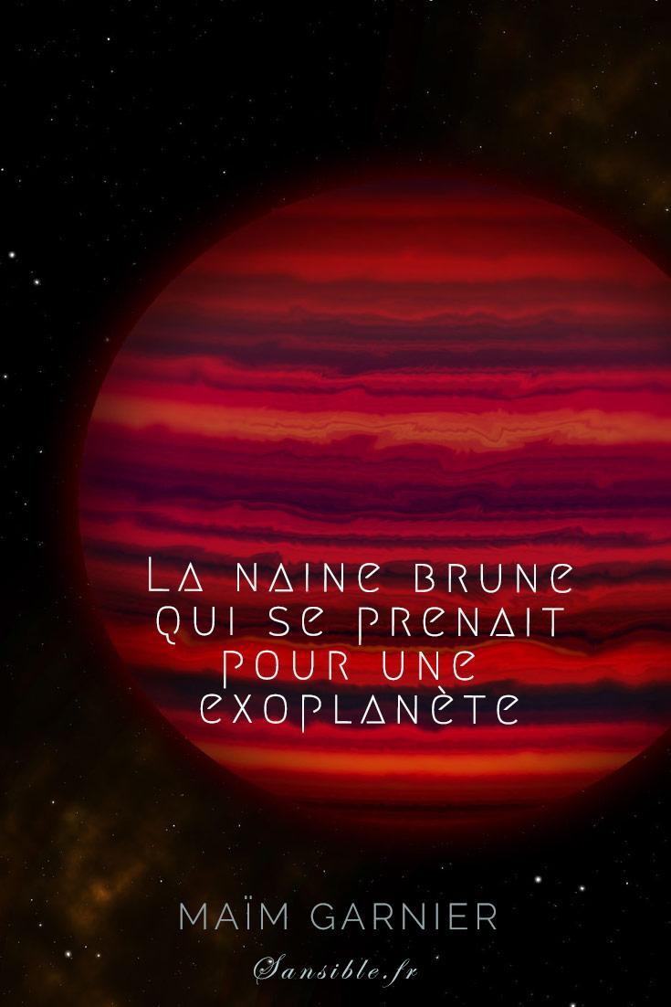 Wide 0855 : La naine brune qui se prenait pour une exoplanète. La naine brune aux nuages d\'eau, Wise0855 vue par le telescope Gemini. #Exoplanete #wise0855 #astronomie #espace #Gemini #eau #voyage #science #imaginaire