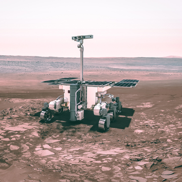 ExoMars rover, ESA. Explorez le système solaire jusqu'à Mars sur Sansible #mars #exomars #rover #planete #explorationspatiale #voyage #ESA