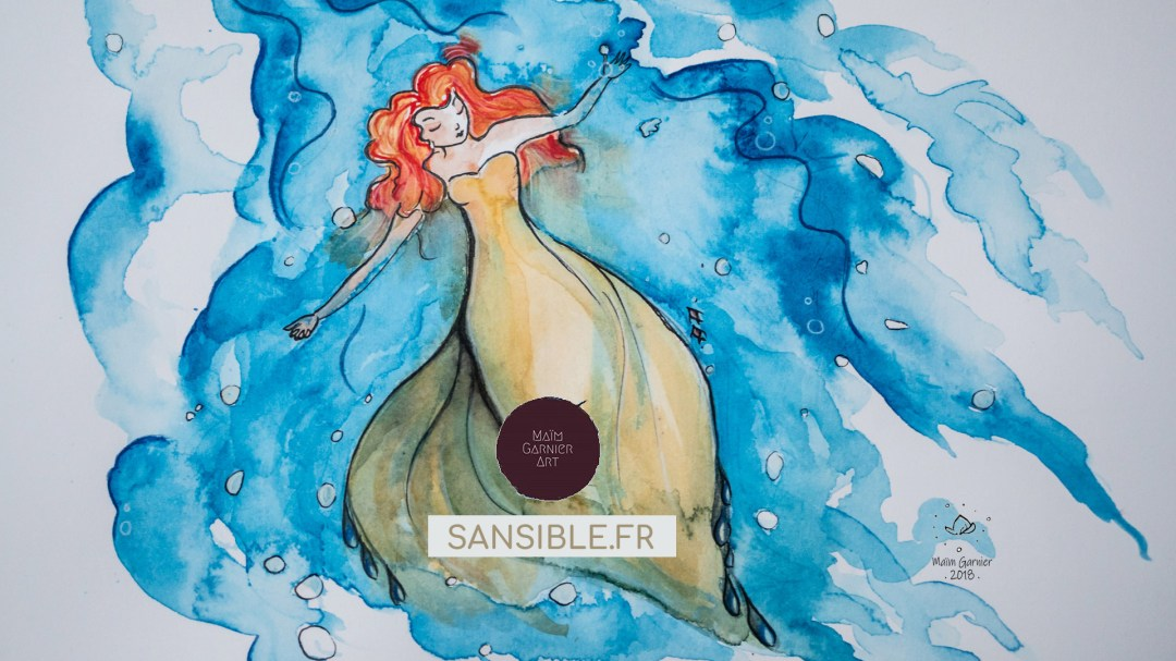 Undulation, Tranquil for Inktober 2018, by Maïm Garnier, art with ink and watercolour. Ondulation par Maïm Garnier, inktober 2018, tranquille. #inktober #inktober2018 #drawingchallenge #characterdesign #illustrationartists #sketches #jakeparker #watercolourartist #illustrationcharacterdesign #illustrationart #artinspiration #MaimGarnier #sealover #swimmingtime #creativeprocess #tranquil #inktoberart