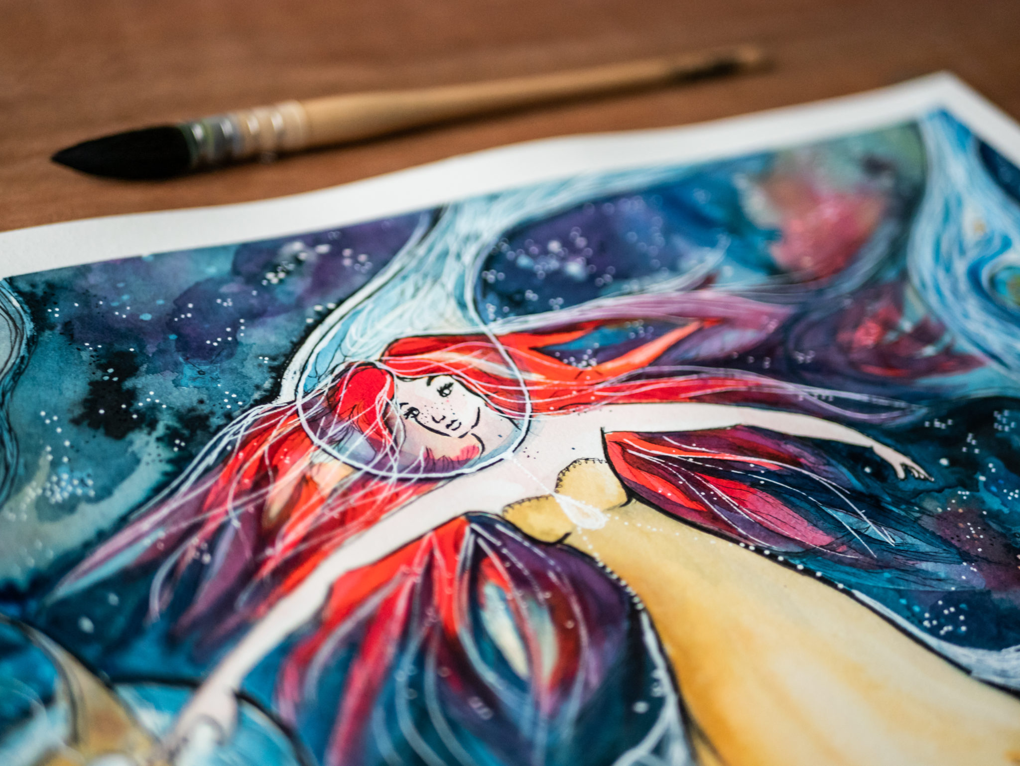 Ether, illustration and painting, very spatial art creation by Maïm Garnier. Ink and watercolour. Star for Inktober 2018. #inktober #inktober2018 #characterdesign #illustrationartists #watercolourartist #illustrationcharacterdesign #illustrationart #artinspiration #MaimGarnier #creativeprocess #inktoberart #star #spaceart #spacepainting #galaxyart #spaceillustration #spacedrawing #galaxypainting