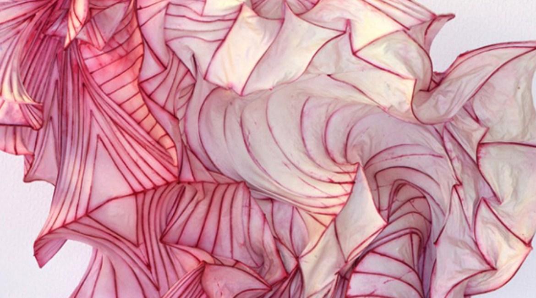 Eternal Flame, at ET Lincoln Center, New York, US, dreamlike pink paper sculpture of Peter Gentenaar on sansible.fr #ScupltureArt #PaperArt #ArtDesign #SculptureInstallation #BeautifulArt #ContemporaryArt #PeterGentenaar #sansible #ETLincolnCenter