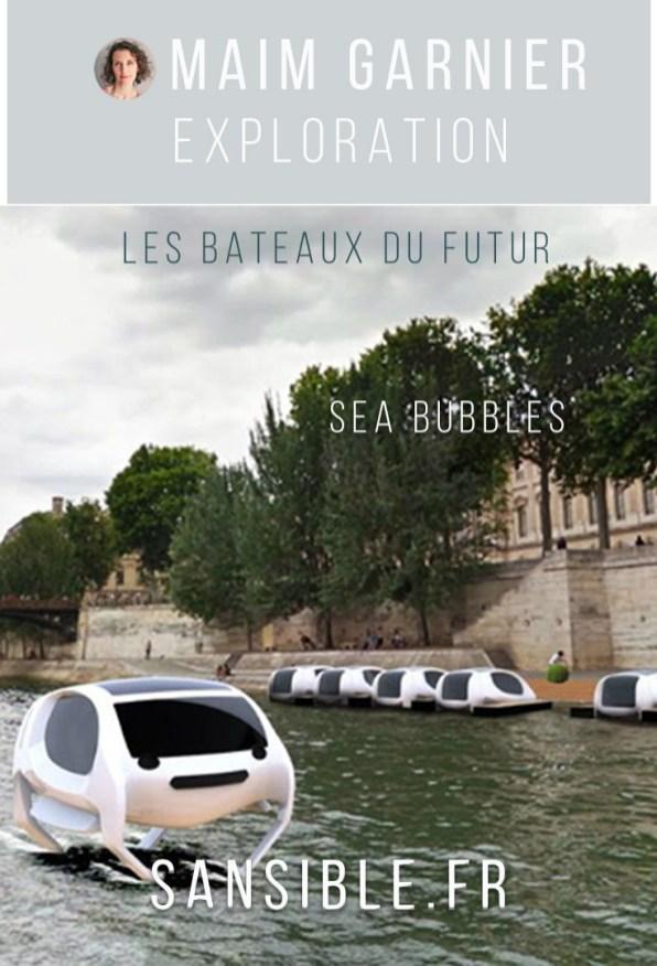 Sea Bubbles, des taxis bateaux électriques qui volent sur l'eau. Davantage de bateaux du futur ecofriendly à découvrir sur Sansible. #seabubbles #taxi #sansible #bateau #futur #propre #ecoconception #ecodesign #futurpropre