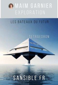 Tetraedron, navire yatch inspiré de Star Trek ? Découvrez les bateaux du futur sur Sansible #sansible #bateau #futur #innovation #design #ecodesign #catamaran
