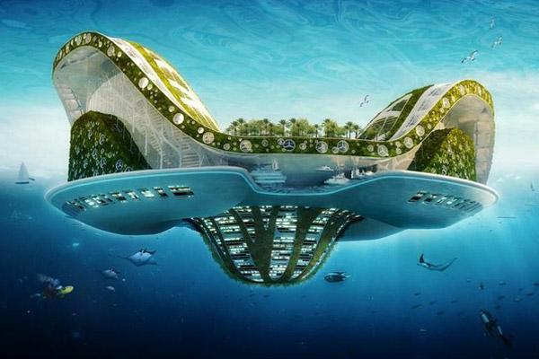 Lilipad de Vincent Callebaut, une cité flottante mobile. Davantage de bateaux du futur sur Sansible #sansible #bateaudufutur #ecodesign #design #citedufutur #villedufutur
