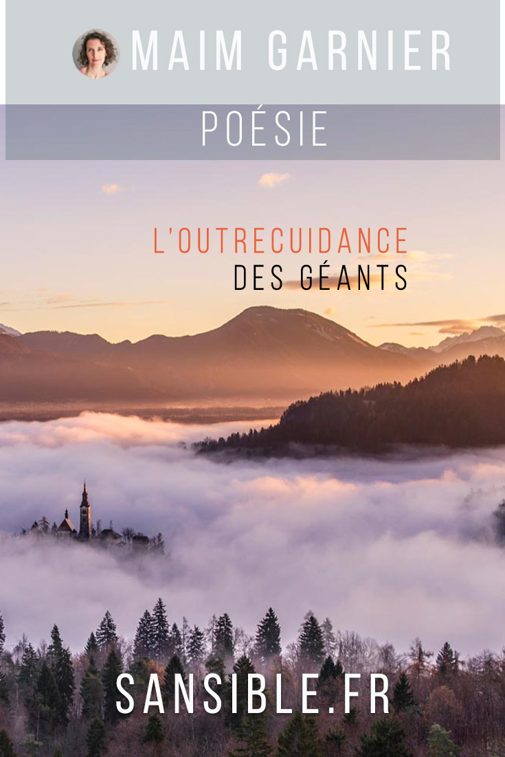 L\'outrecuidance des géants, poème engagé de Maïm Garnier. Davantage de textes littéraires et de créations à découvrir sur Sansible. #poesieengagee #litterature #poésie #poème #litteratureengagee #MaimGarnier #sansible