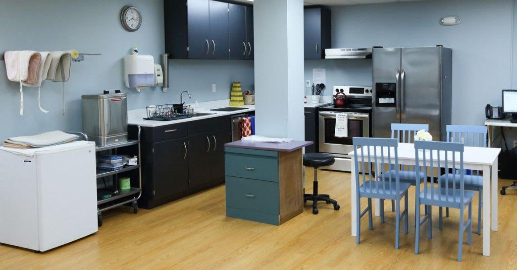 home-like kitchen treatment rehab