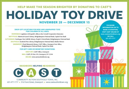 CAST holiday toy drive