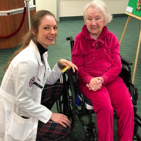 Dietetic intern Olivia Fitzgerald & resident Mary Tuthill