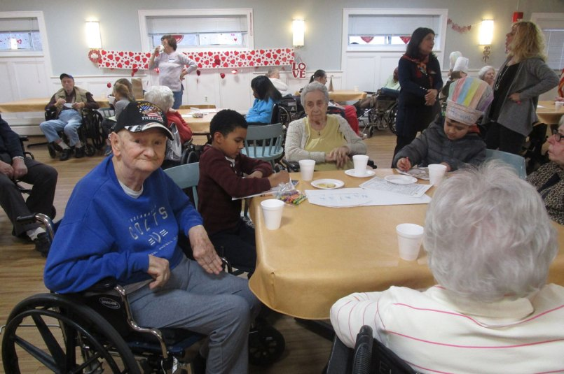 Read a Recipe for Literacy with residents