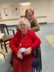 Female San Simeon resident visited by her daughter on Mother's Day
