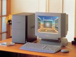 VAIO PCV-90 (1996): Το πρώτο μοντέλο VAIO ήταν ένα υπερπλήρες desktop PC. Ξεχώριζε το τρισδιάστατο κέλυφος χρήσης Vaio Space.