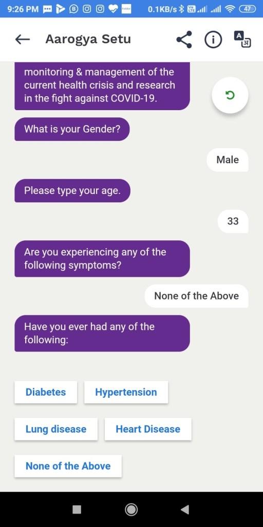 Screenshot 2020 04 15 21 26 08 204 nic.goi .aarogyasetu आरोग्य सेतु Apps कोरोना वायरस Surksha Kavach