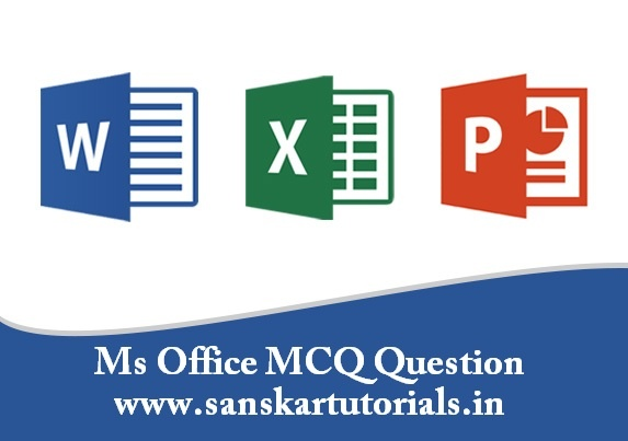 Ms Office mcq Question hindi me