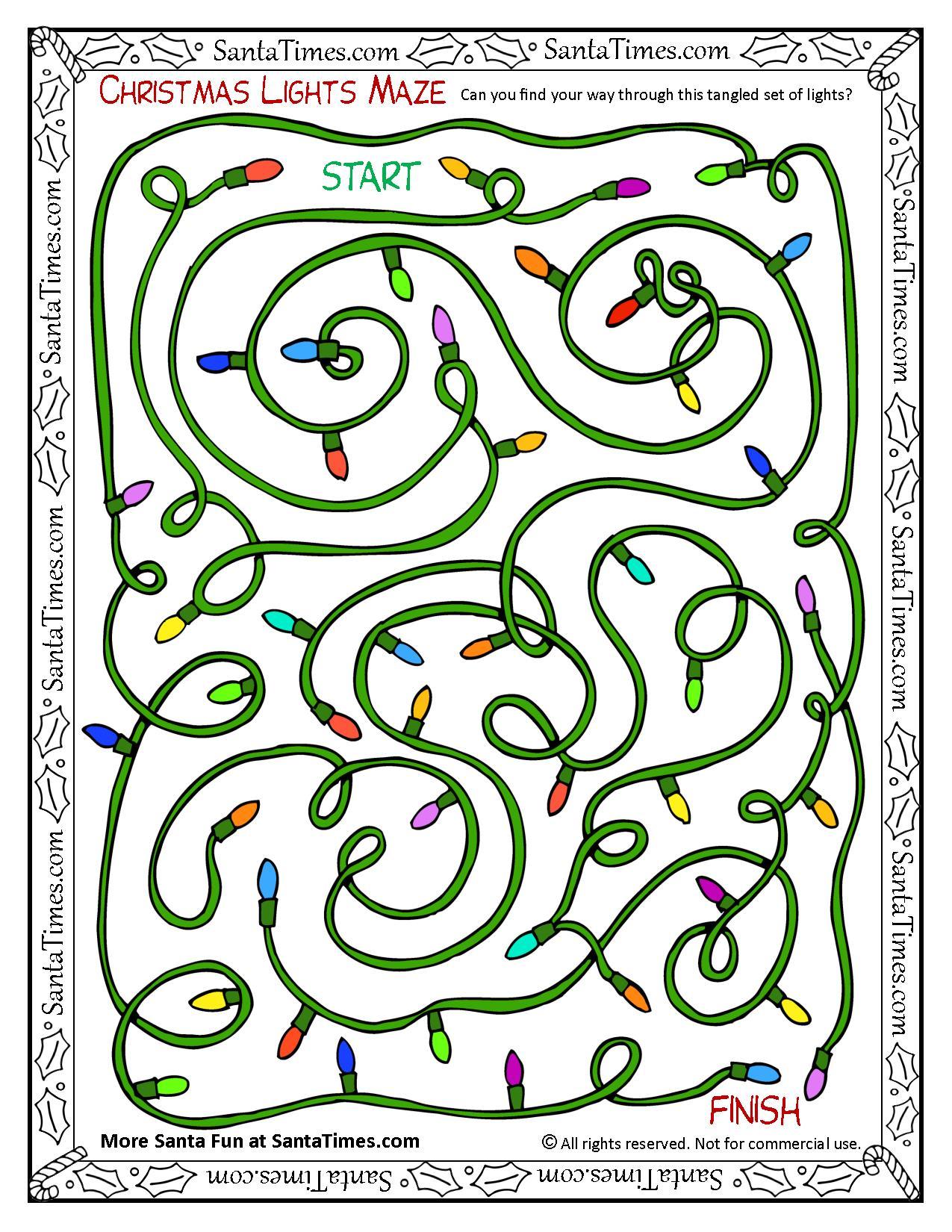Christmas Lights Maze