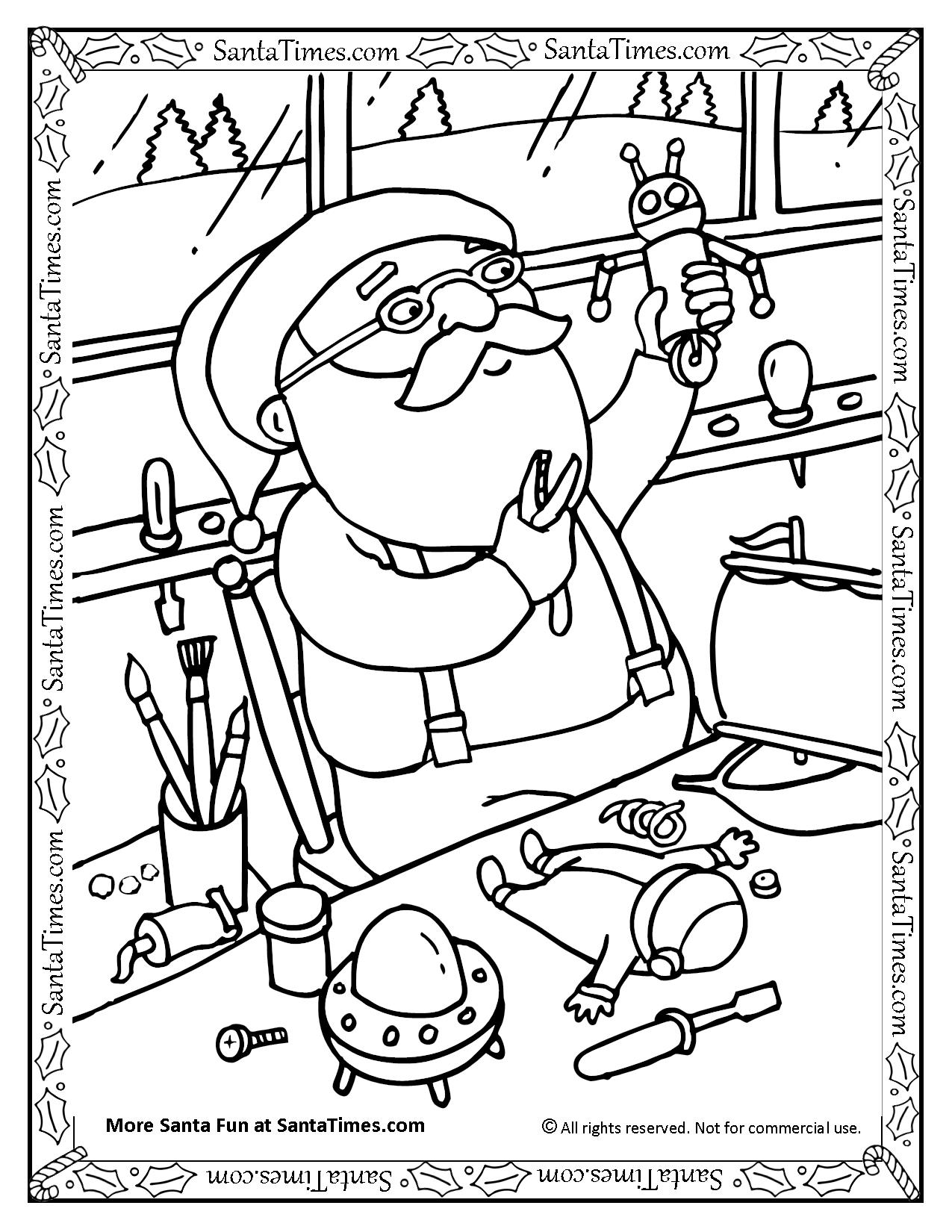 Santa In The Workshop