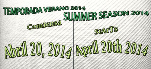 Summer Season starts April 20th