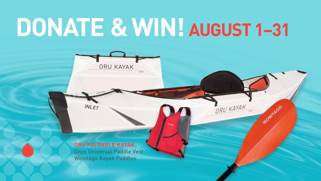 Donate Blood and Win a Kayak during August of 2021