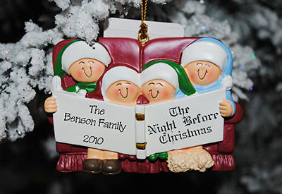 family-night-before-christmas-ornamentpersonalized