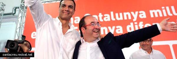 Iceta y Pedro Sánchez ofrecen la independencia a plazos a los catalanes