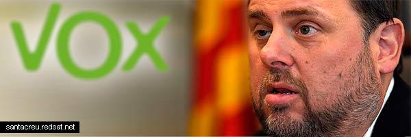 Vox el único partido que planta cara a los golpistas catalanes del Procés