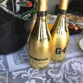 garrafa metalizada champagne personalizada