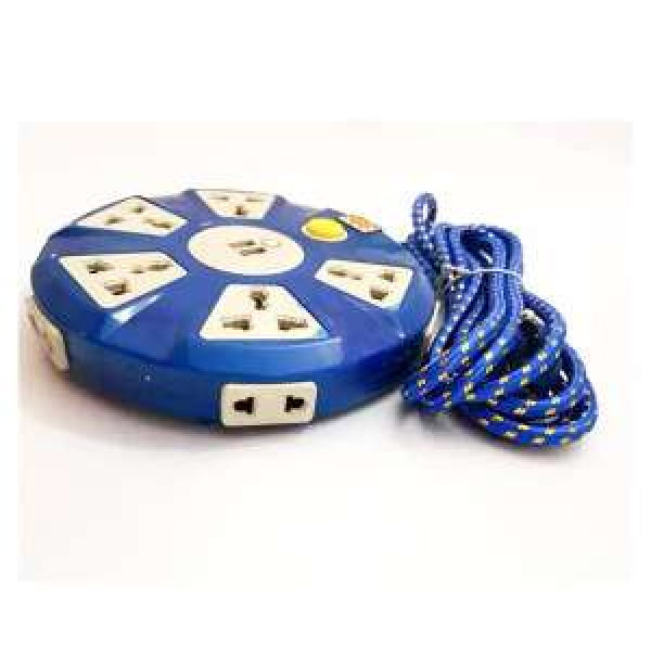 Round Power Extension Cord With USB Port