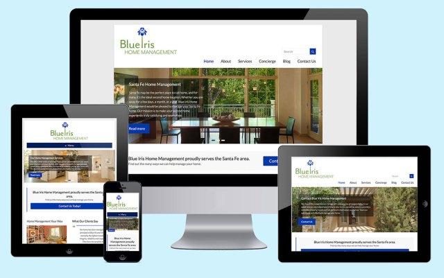 blue iris responsive web design