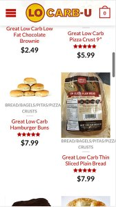 Lo Carb - Shopping Page Mobile Phase
