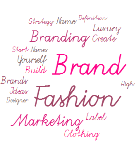 Wordcloud: Fashion Brands, Marketing, Label, Designer, Brands Ideas, Luxury, Create, Strategy, Definition, Clothing, Names, Designer