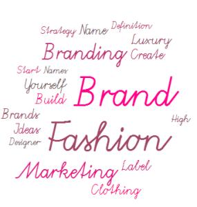 Wordcloud: Fashion Brands, Marketing, Label, Designer, Brands Ideas, Luxury, Create, Strategy, Definition, Clothing, Names, Designer