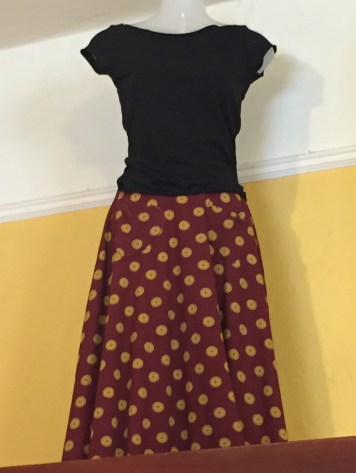 SFFW Maroon and Gold Skirt
