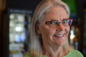 A picture of Deb in her TD Tom Davies custom eyewear