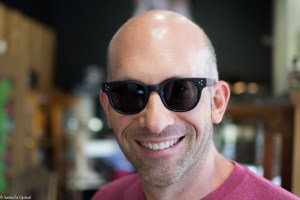 "Jason in black ""Afton"" by Oliver Peoples sunglasses"