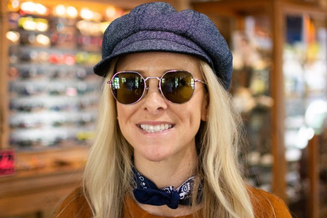 Amber in Place Dauphine Sunglasses by AHLEM Eyewear